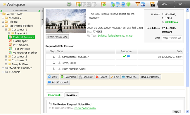 Document Management Software Screen Shot